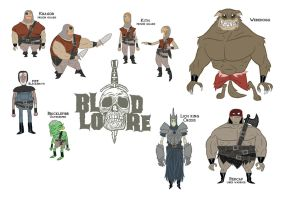 Blood and Lore book one Character sheet by Seanbahr