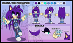 Rayna the Porcupine .:Reference Sheet:. by Pendulonium