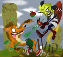 crash bandicoot by SleepTank