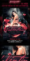 Valentines Sensual Dream PSD Flyer Template by yAniv-k