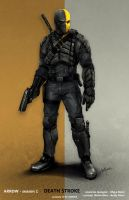 CW ARROW - Deathstroke by AndyPoonDesign