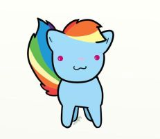 Rainbow Dash the Cat by OtterPopPhillip