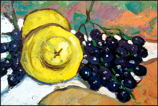 QUINCES AND GRAPES (A STUDY) by Badusev