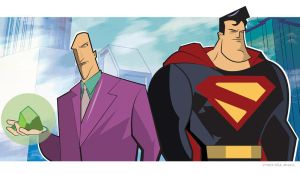 Luthor and Superman by CartoonCaveman