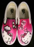 Hello Kitty Vans by SwissDutchess