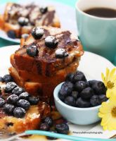 Homemade Blueberry Loaf Cake by theresahelmer