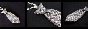 LIMITED Fifty Shades of Grey Mini Tie Necklace by The-Gwyllion