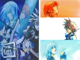 Sora, Riku and Kairi by Feonight