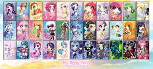 Chibi Set - My Little Pony by ToxicStarStudio
