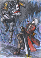 Dante vs Kratos by Impostor1