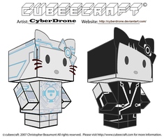 Cubeecraft - Hello Tron Kitty by CyberDrone