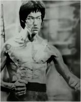 BRUCE LEE TRIBUTE SKETCH by BUMCHEEKS2