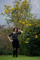 Ana and the tabebuia by speedofmyshutter