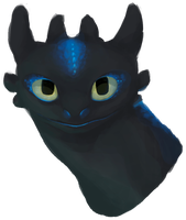 Toothless Speedpaint by Sprouteeh