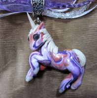 little unicorn necklace by carmendee