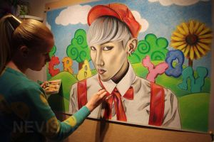WIP Oil pastel - G-dragon Crayon by Nevisse