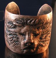 Copper Lion Cuff by Sothoth