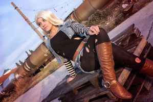 Android 18~ by Justawaykitty