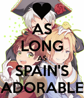 BTT-As Long as Spains Adorable by LittleFlower23