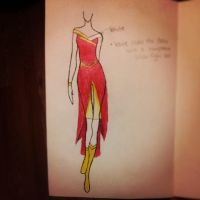 Flash Inspired  Dress by Sherubichan