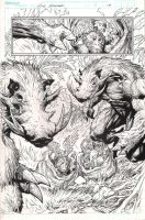 The Incredible Hulk - Issue 1 Page 19 INKS by MichaelBroussard