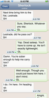 The Personal Text Log of Dr. John Watson Pt. 11a by blissfulldarkness