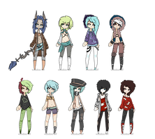 Mixed adopt set -taken- by Voodoo-Elf