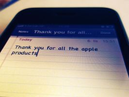 Thank you Steve Jobs by snupi2001
