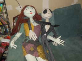 Jack and Sally just relaxing by PrincessCarol
