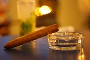Cigar after dinner by awropa
