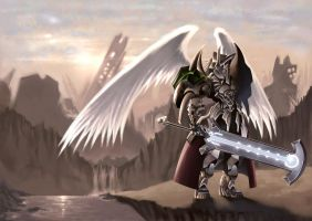 Demon . Angel knight by knightsin1987