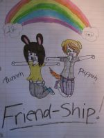 puppeh+bunneh by BoudreauX24