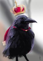 King Raven Speedpaint by JoseOchoaArt