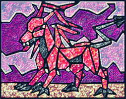 Stained Glass Darigan Gelert by SDFloat