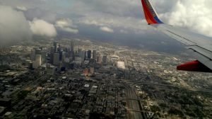 Houston from airplane by elnina999