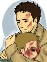 Angsty DeanCas by lemonpie-art