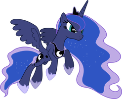 Princess Luna Pouncing by 90Sigma