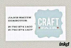 Retro Craft Fair Business Card by inkddesign
