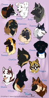 Kennel ocs_Headshots by Aquene-lupetta