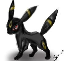Umbreon- by Tebyx