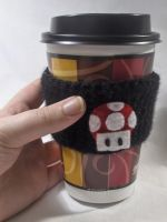 Mario Mushroom Coffee Cuff by PerilousBard