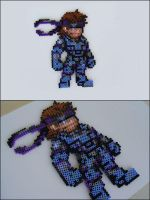 Metal Gear Solid Snake bead sprite magnet by 8bitcraft