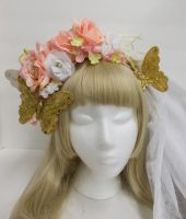 Floral Butterfly Hair Accessory by sweetmildred