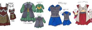 Lady sif and the Warriors Three Dresses by Robinade