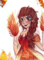 fire elsa-let them burn by NENEBUBBLEELOVER