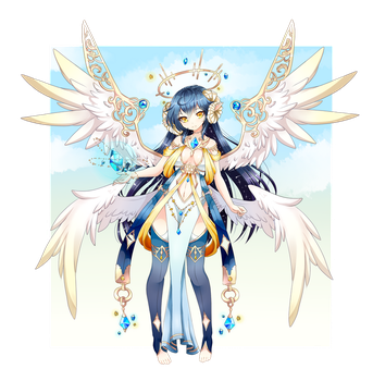 Holy Gated Angel Adopt - CLOSED by Oma-Chi