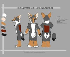 RunCoyoteRun fursuit 3 view by runcoyoterun