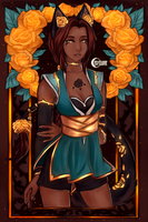 Varona of the Yellow Rose by Cerylune