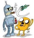 Jake the Dog and Bender the Robot by NewtMan