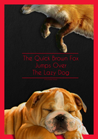 The Quick Brown Fox Jumps Over The Lazy Dog 1 by Envinite
